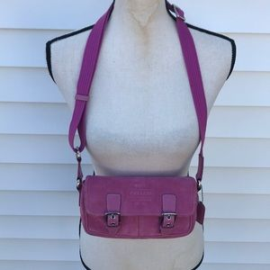 Coach beautiful pink suede cross boots bag